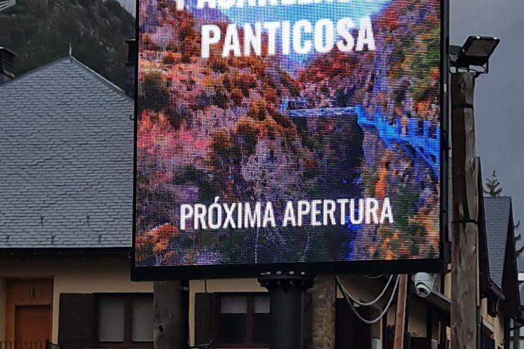 Panticosa estrena una nueva pantalla de LED donde poder promocionar todos sus recursos y eventos